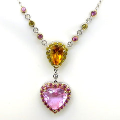 SALE! Valentine Heart Gemstone Necklace/Pendant