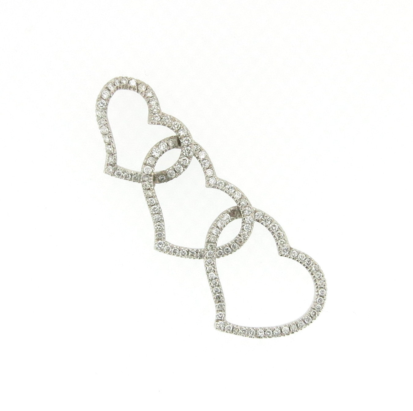 Three-Heart Diamond Necklace/Pendant
