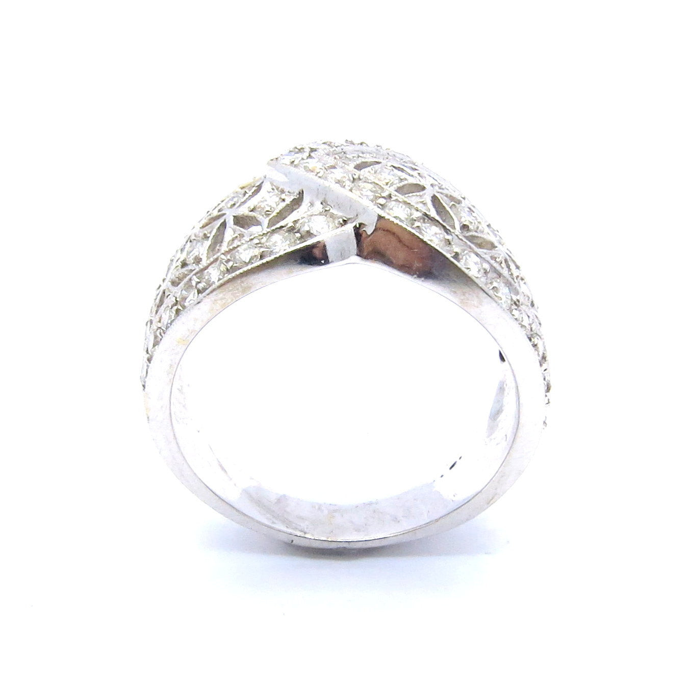 Wide Band Diamond Wedding Band, Cocktail Ring, Anniversary Ring