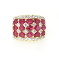 Ruby Gemstone and Diamond Engagement/Cocktail Ring