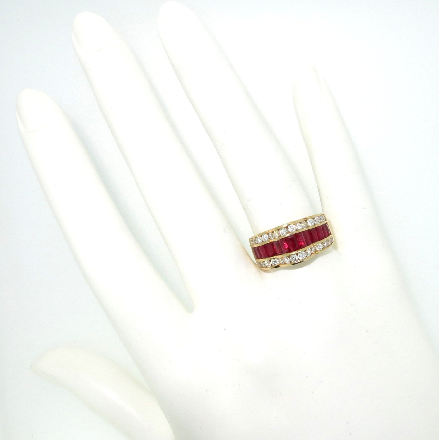 Ruby Gemstone & Diamond Engagement Ring, Anniversary Ring, Gemstone Engagement Ring, Alternative Engagement Ring, Cocktail Ring