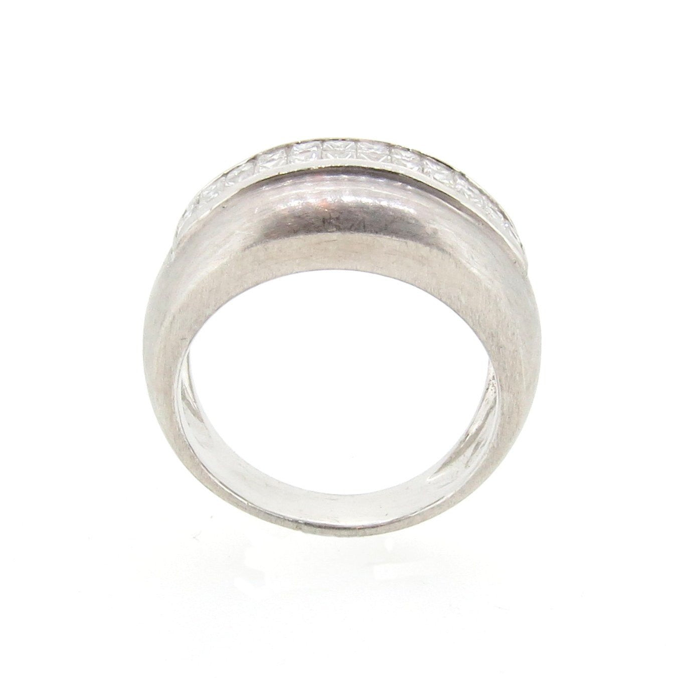 Wide Band, Diamond Wedding Band, Anniversary Ring, Cocktail Ring
