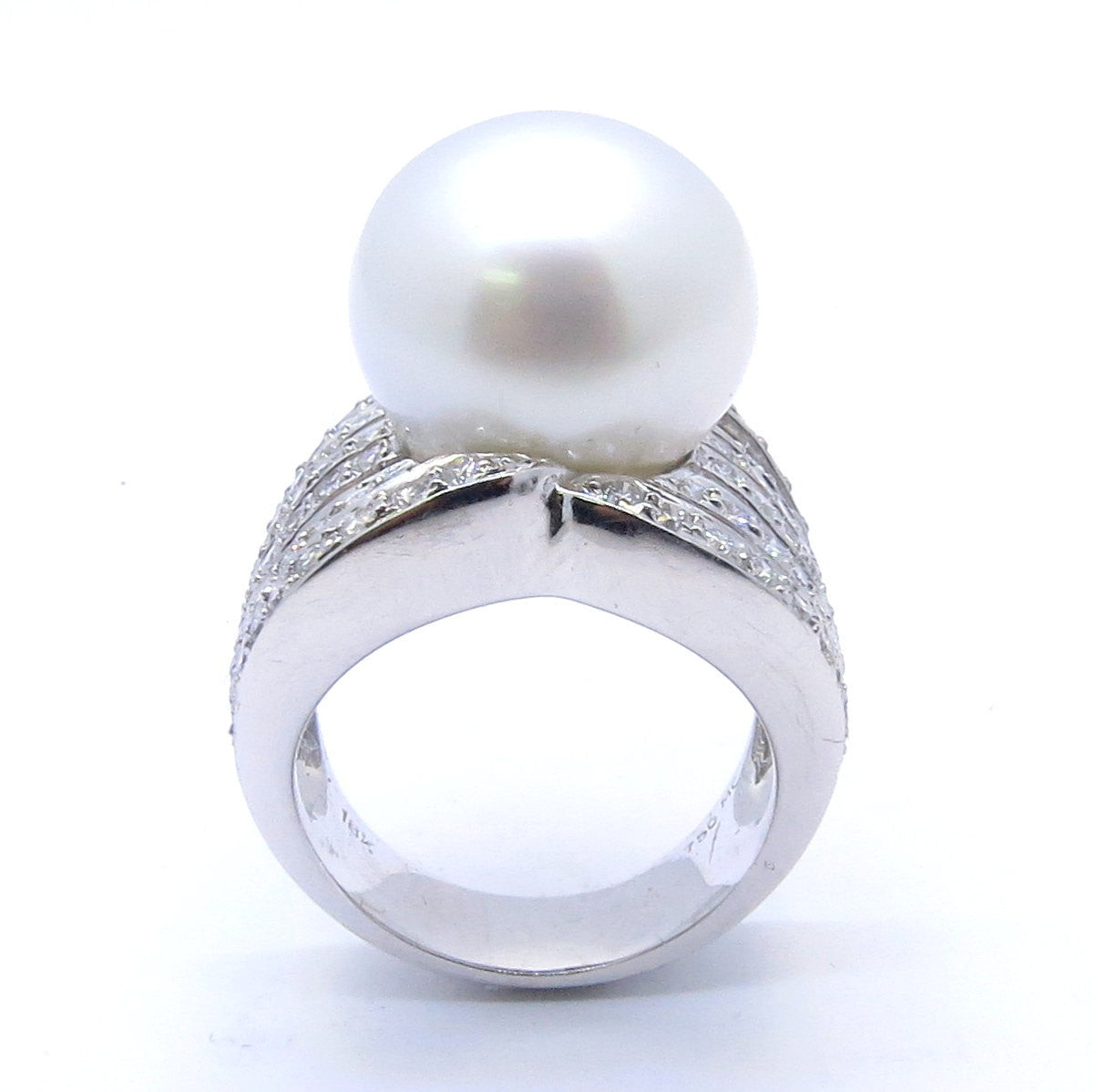South Sea Pearl And Diamonds Engagement Ring, Cocktail Ring