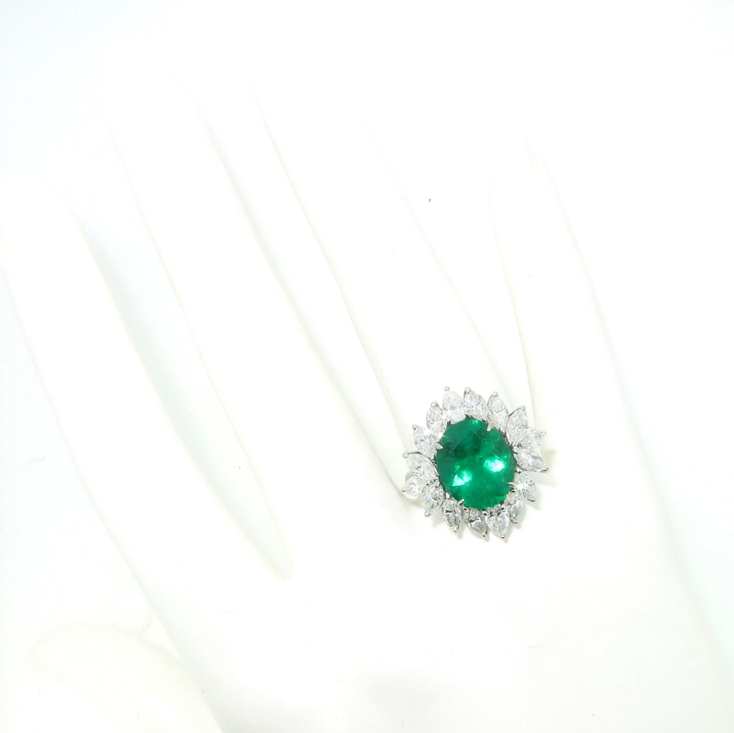 Emerald & Diamond Engagement Ring, Gemstone Engagement, Alternative, Anniversary Ring, Cocktail Ring