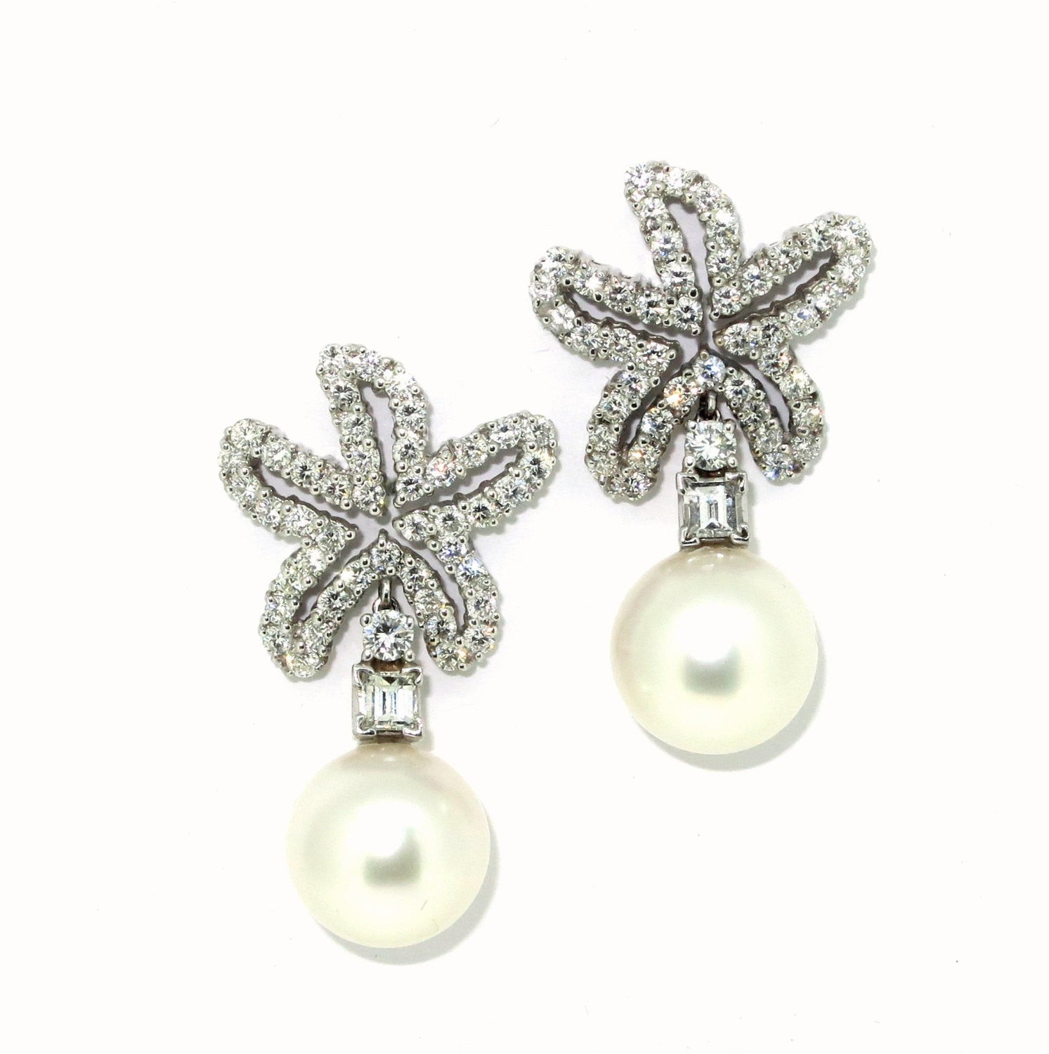 South Sea Pearls & Diamonds Earrings