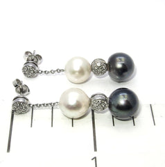 Black Tahitian Pearl Dangle Earrings