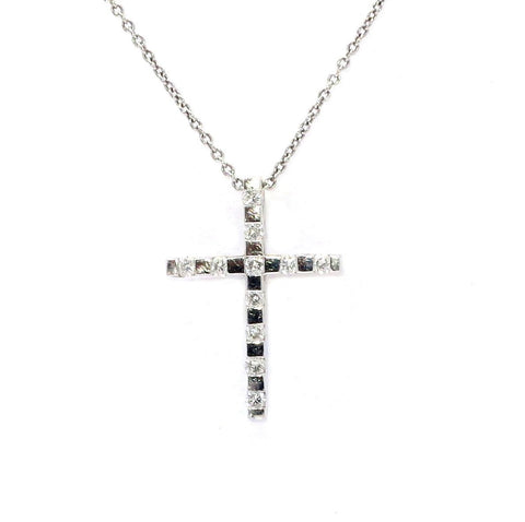 "Diamond ""Cross"" Pendant With Chain"