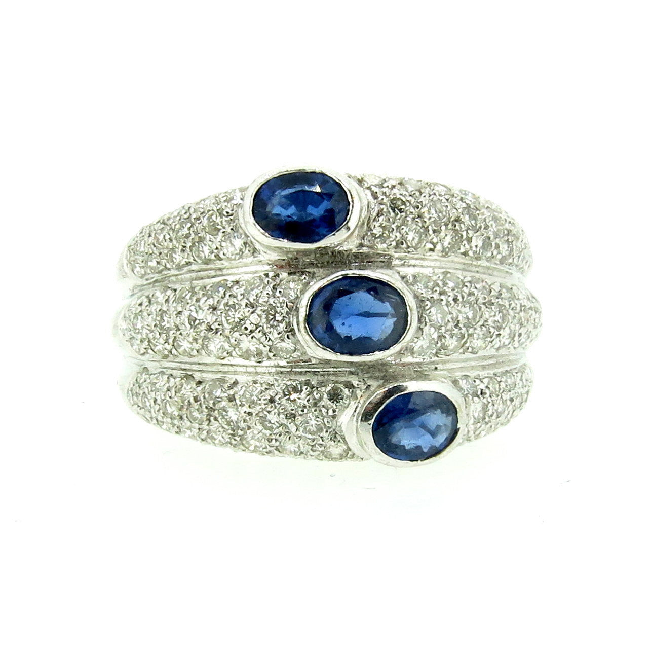 Sapphire & Diamond Cocktail Ring, Gemstone Ring