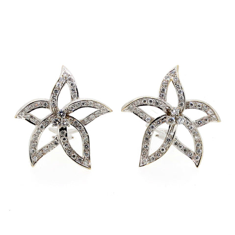 Star Like Diamond Earrings