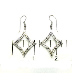 Diamond Shaped Dangle Earrings