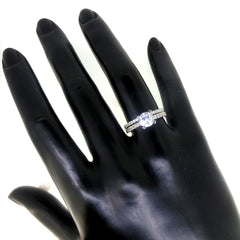 1 Carat Forever Brilliant Moissanite Engagement / Wedding Set, With .50 Carat Diamonds, Anniversary Ring Set - FB76340