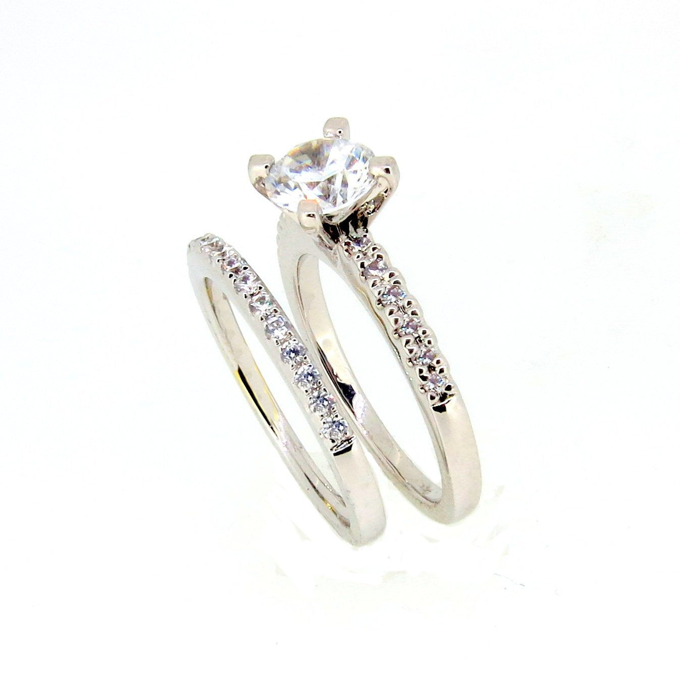 1 Carat Forever Brilliant Moissanite Engagement / Wedding Set, With .50 Carat Diamonds, Anniversary Ring Set - FBJRBS901