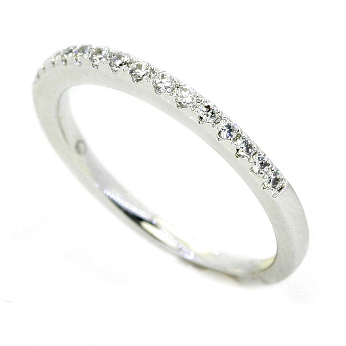 Diamond Wedding Band With Brilliant Cut Pavé Diamonds - UENS3193B