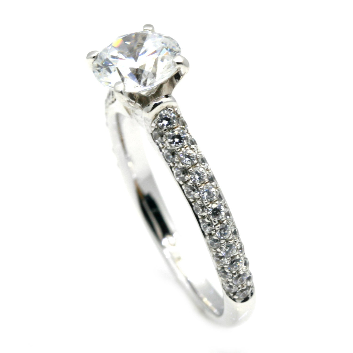 Diamond Engagement Solitaire Ring Setting for 1 Carat Center Stone, Semi Mount - 73765