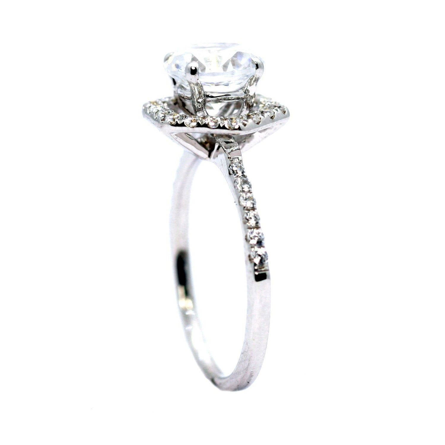 halo pave ring two london setting jewellery by settings cushion bridal jewelry engagement