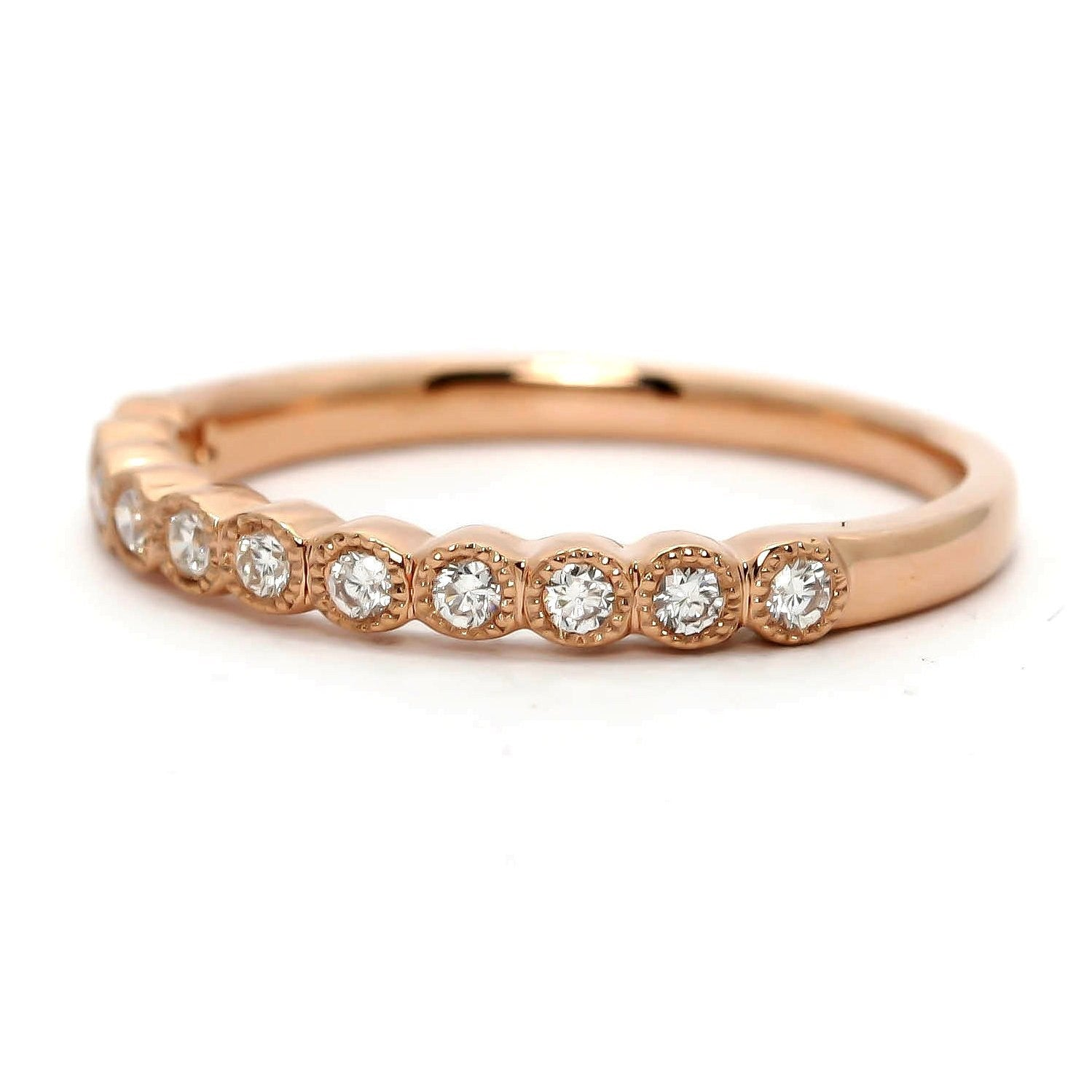Unique Diamond Wedding Band,14k Rose Gold,Yellow Gold,18k Gold, Platinum, Available Matching Engagement Ring - 73081WB