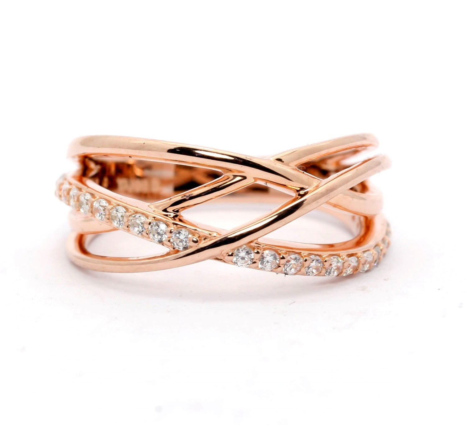annivery deco rings eternity anniversary gold wedding half for ring antique band art rose bands milgrain diamond her