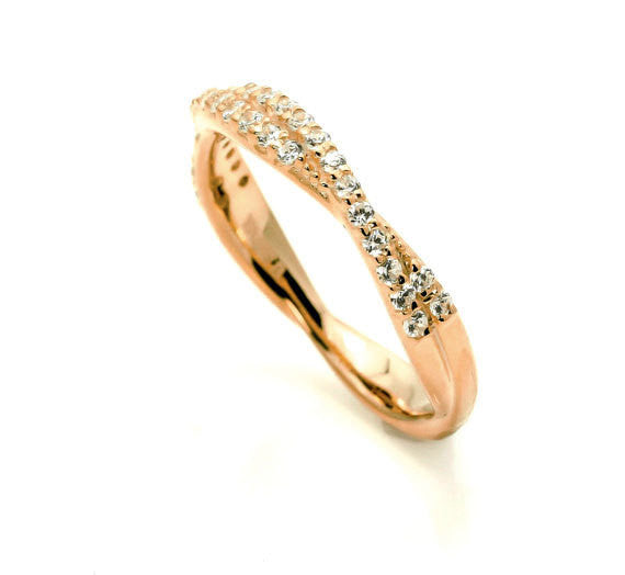 Unique Diamond Wedding Band,14k Rose Gold, White Gold,Yellow Gold, Platinum, .26 Carats Diamonds Matching Engagement Band - Y11569BA
