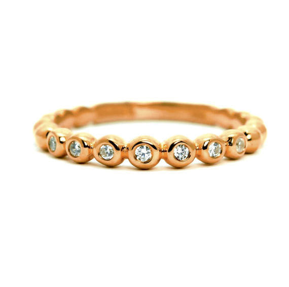 Unique Diamond Wedding Band,14k Rose Gold, White Gold,Yellow Gold .13 Carats Of Diamonds - Y11678