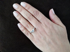Diamond Engagement Ring, Unique Solitaire .75 Carat GIA Certified Diamond Center Stone & .13 Carat Diamonds Accent Stones, Anniversary Ring - WDY11670SE