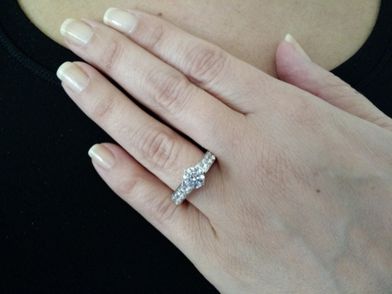Semi Mount Engagement Ring, Unique Solitaire For 1 Carat Center Stone Has 2.62 Carat Diamonds, Anniversary Ring - Y11637