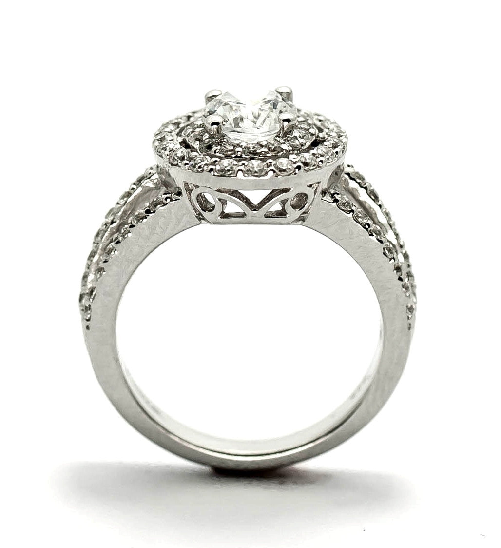 triple unique engagement center ring diamond stone with diamonds mount halo il shank fullxfull for products double carat semi