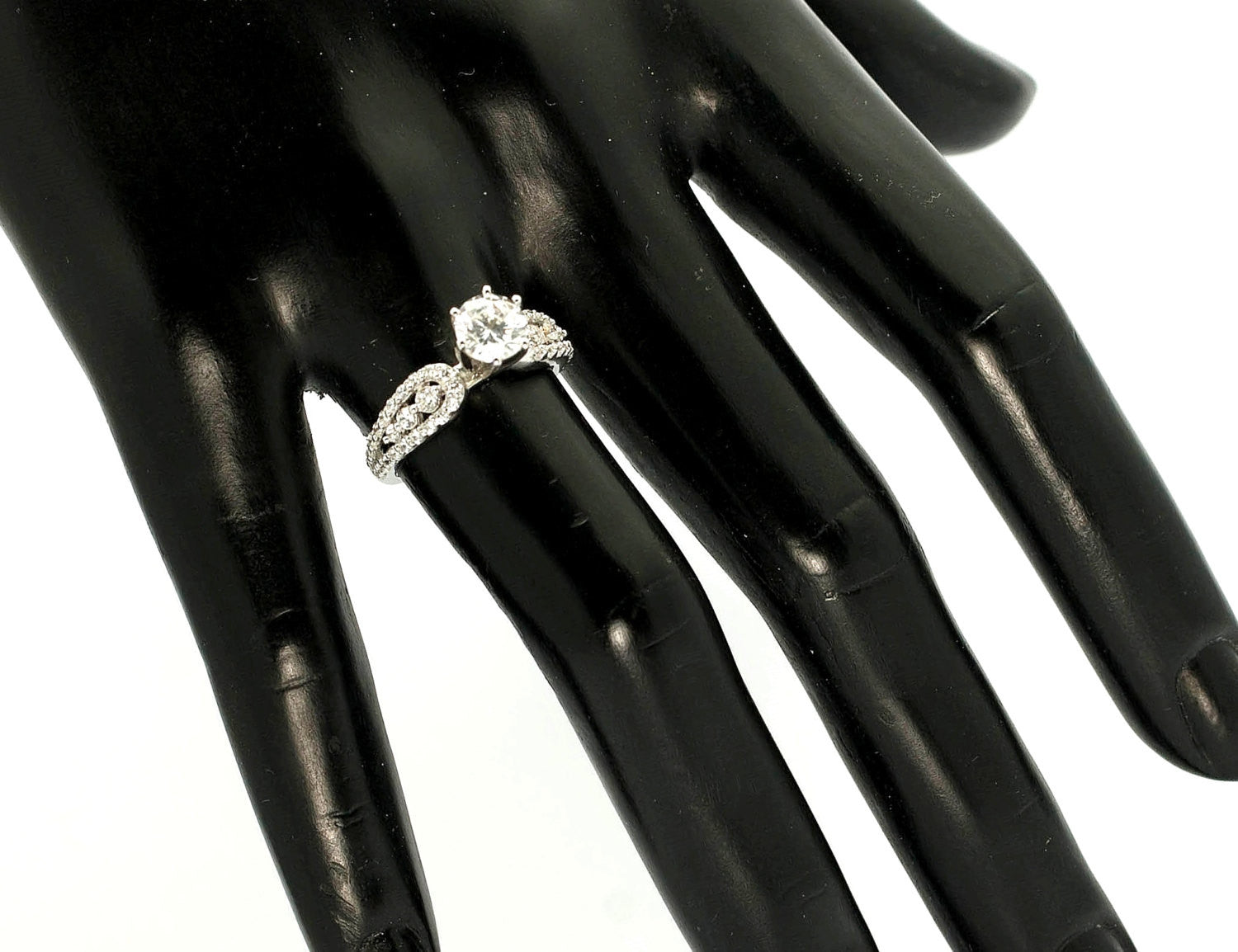 Moissanite Engagement Ring, Unique Shank With .73 Carat Diamond & 1 Carat Forever Brilliant Moissanite Center Stone, Anniversary Ring - FBY11650