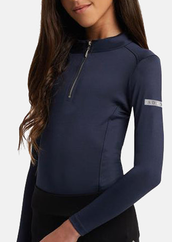 Young Riders Navy Base Layer