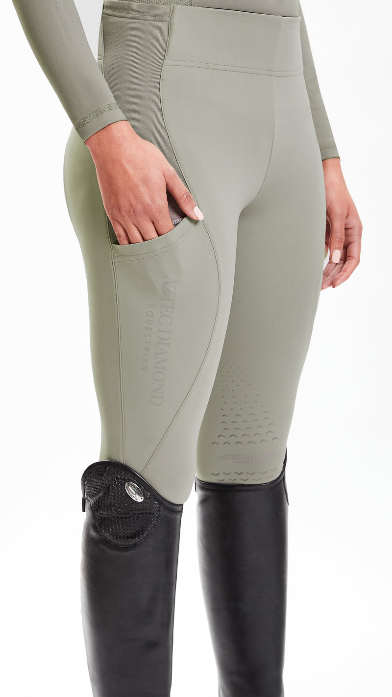 Khaki Riding Leggings