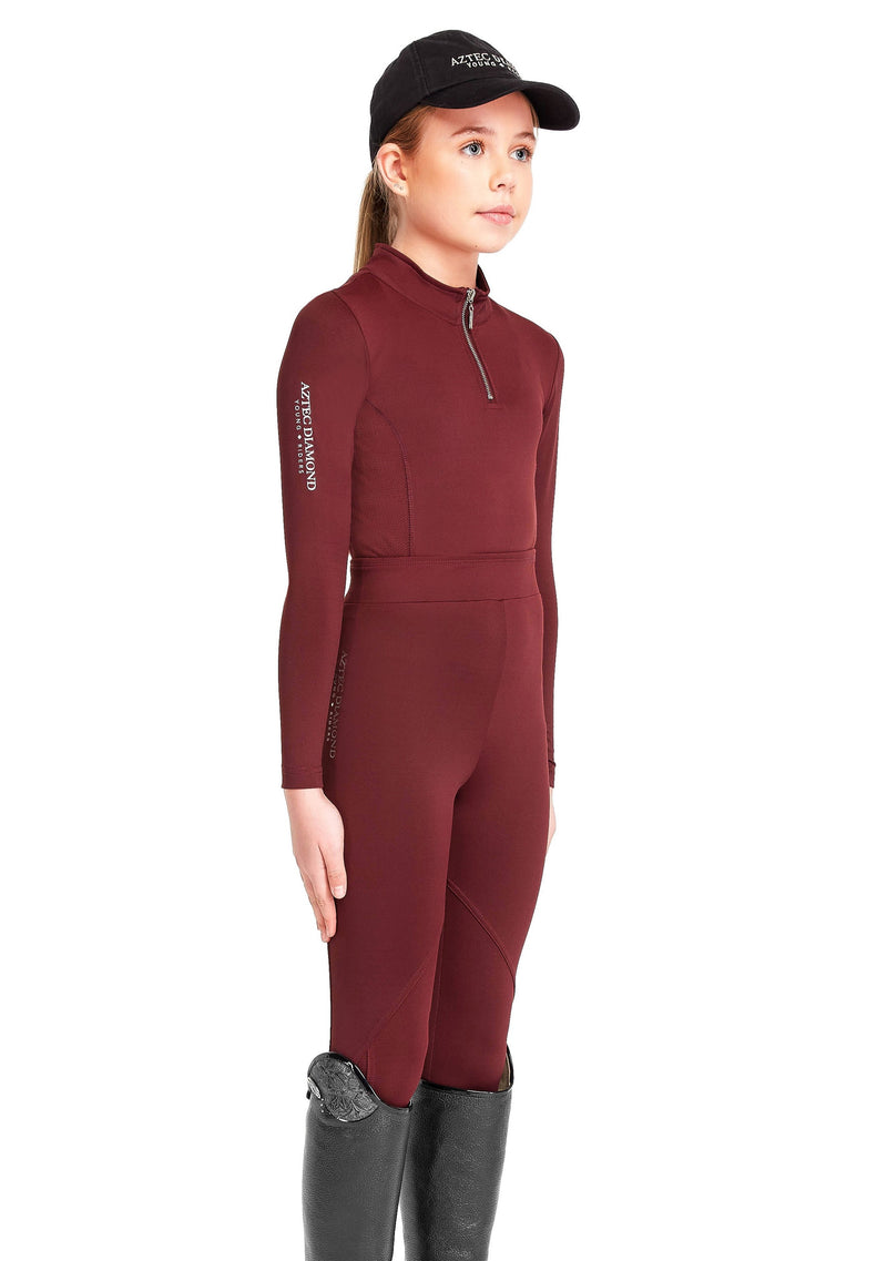 Young Riders Burgundy Leggings