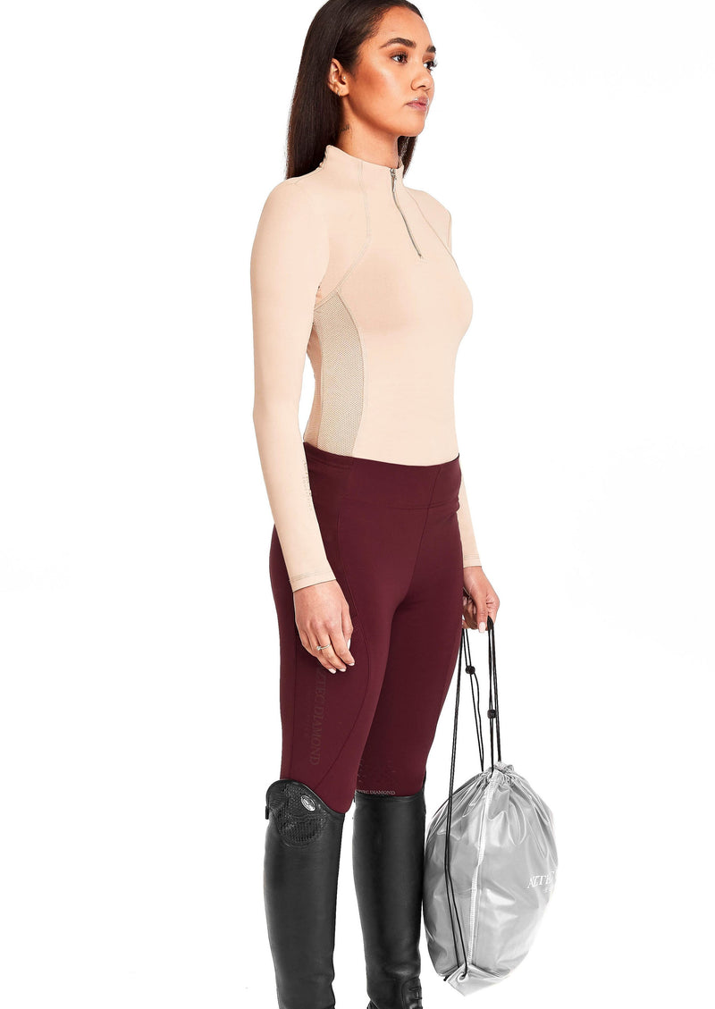 Burgundy Riding Leggings