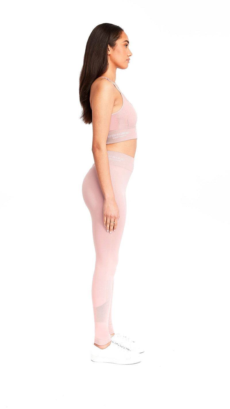Pink Thermal 3D Knit Leggings