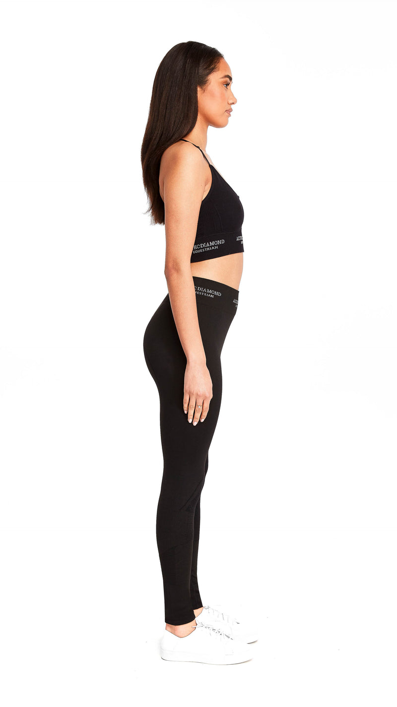 Black Thermal 3D Knit Leggings