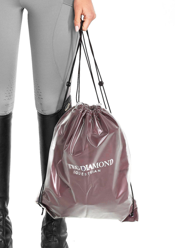 Burgundy Drawstring Bag
