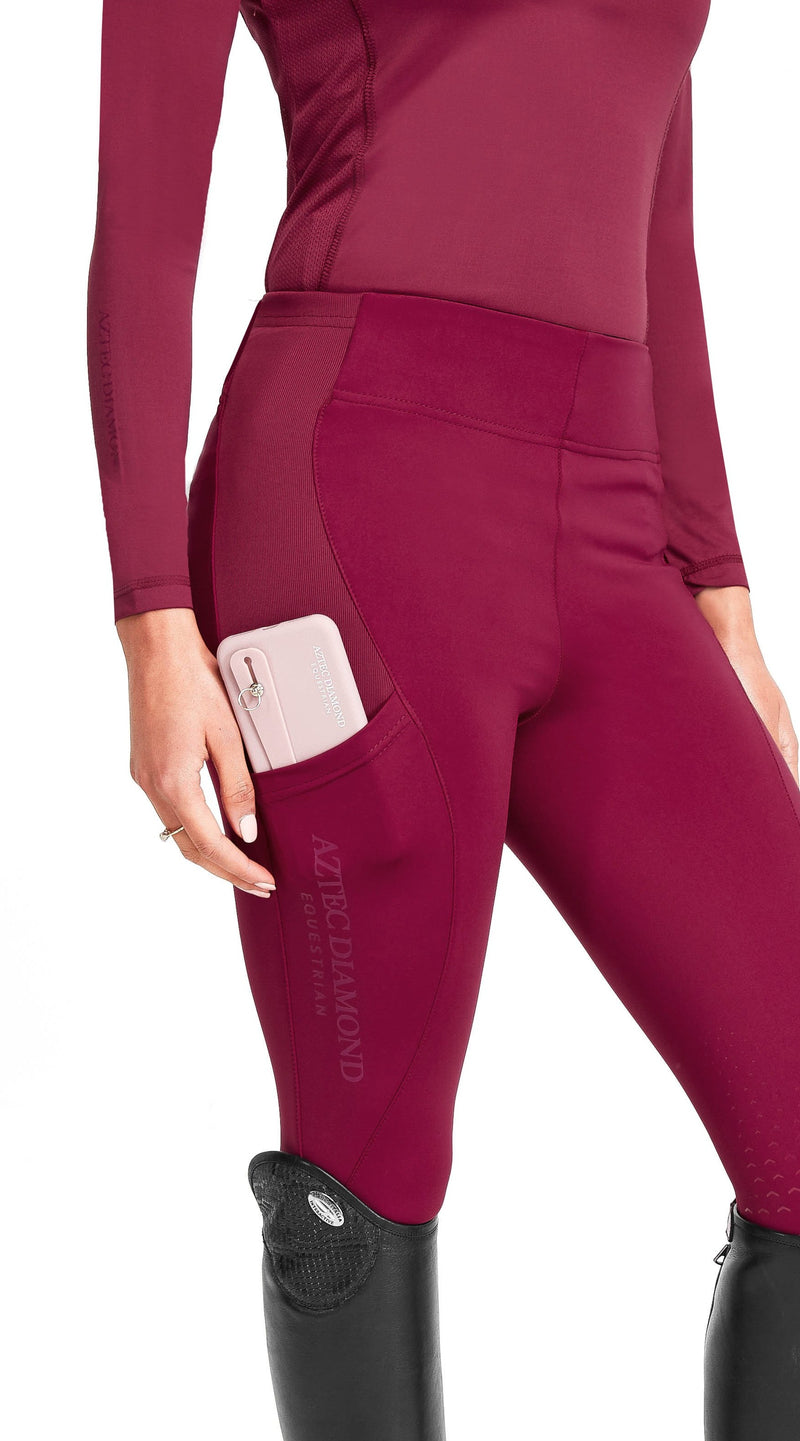 Raspberry Riding Leggings
