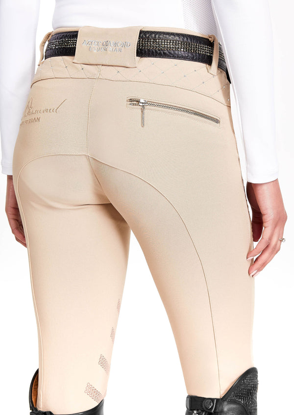 Beige In-Check Breeches