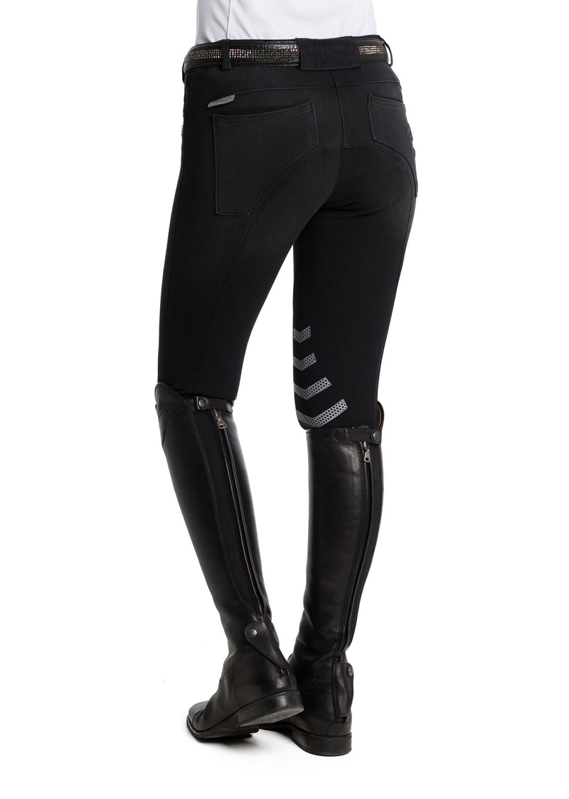 Black Denim Breeches