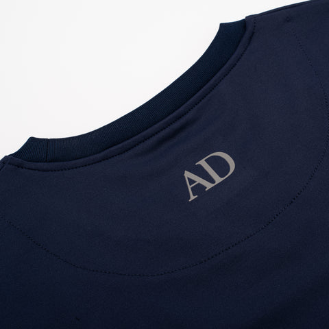 Navy Fitted Technical T-Shirt