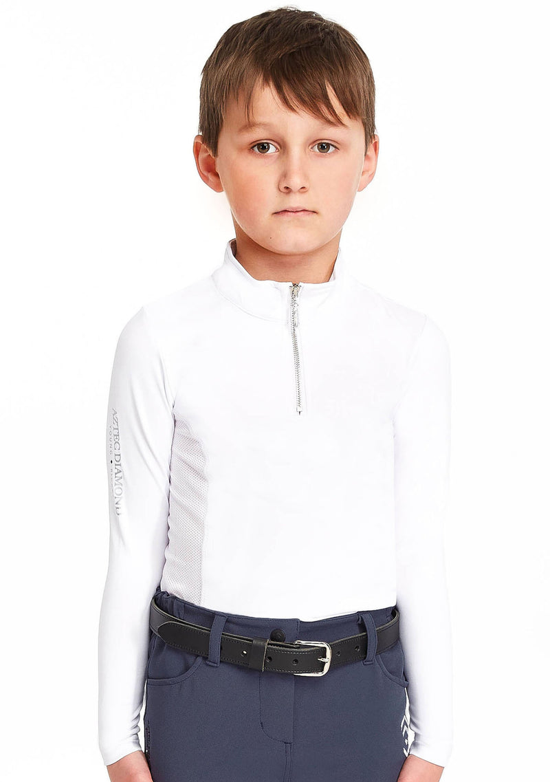 Young Riders White Base Layer