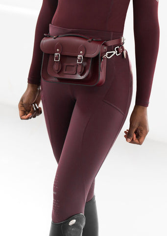 Burgundy Technical Stretch Riding Leggings
