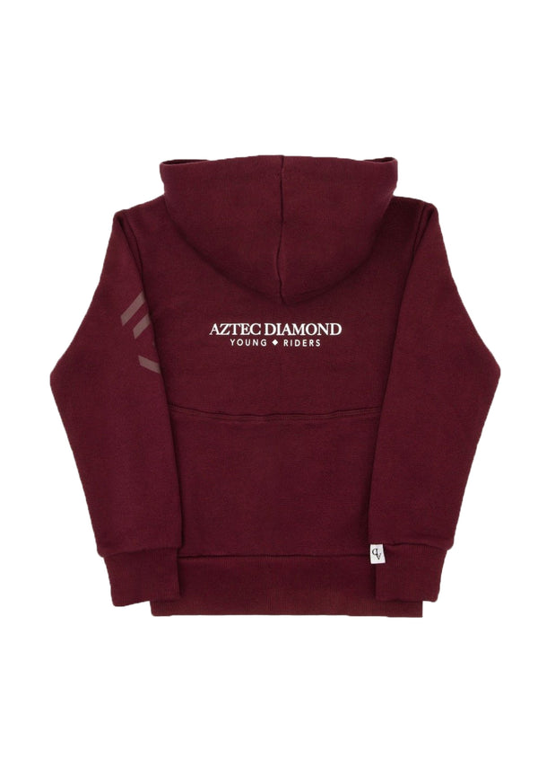 Young Riders Burgundy Full Zip Hoodie