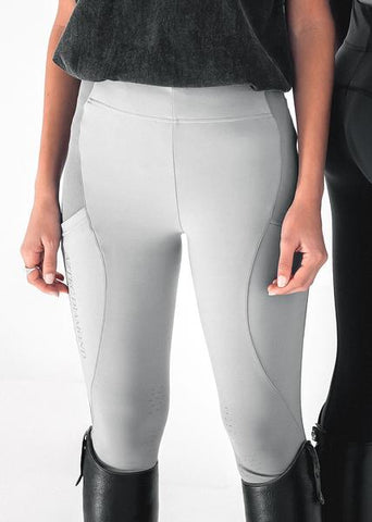 Grey Technical Stretch Riding Leggings