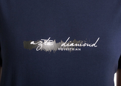 Navy Roll Print T-Shirt