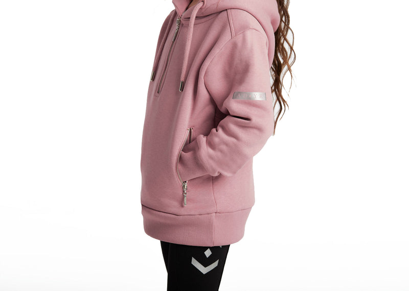 Outlet Young Riders Pink Half Zip Hoodie