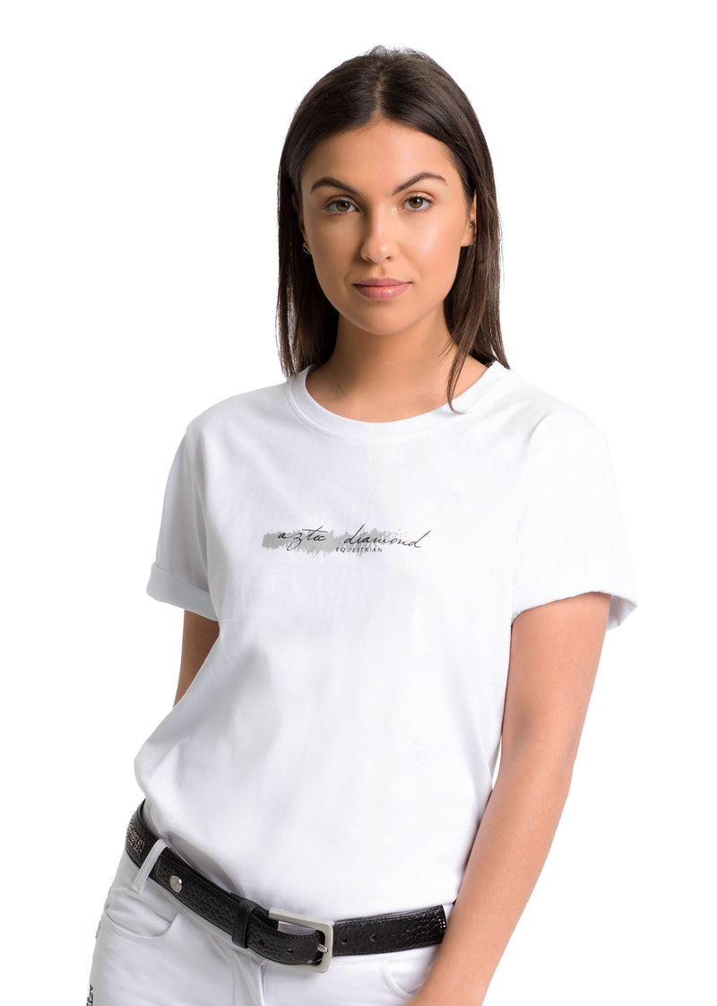 Outlet White Roll Print T-shirt