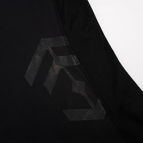 Black Fitted Technical T-Shirt