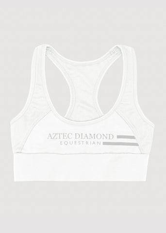 Outlet White Sports Bra