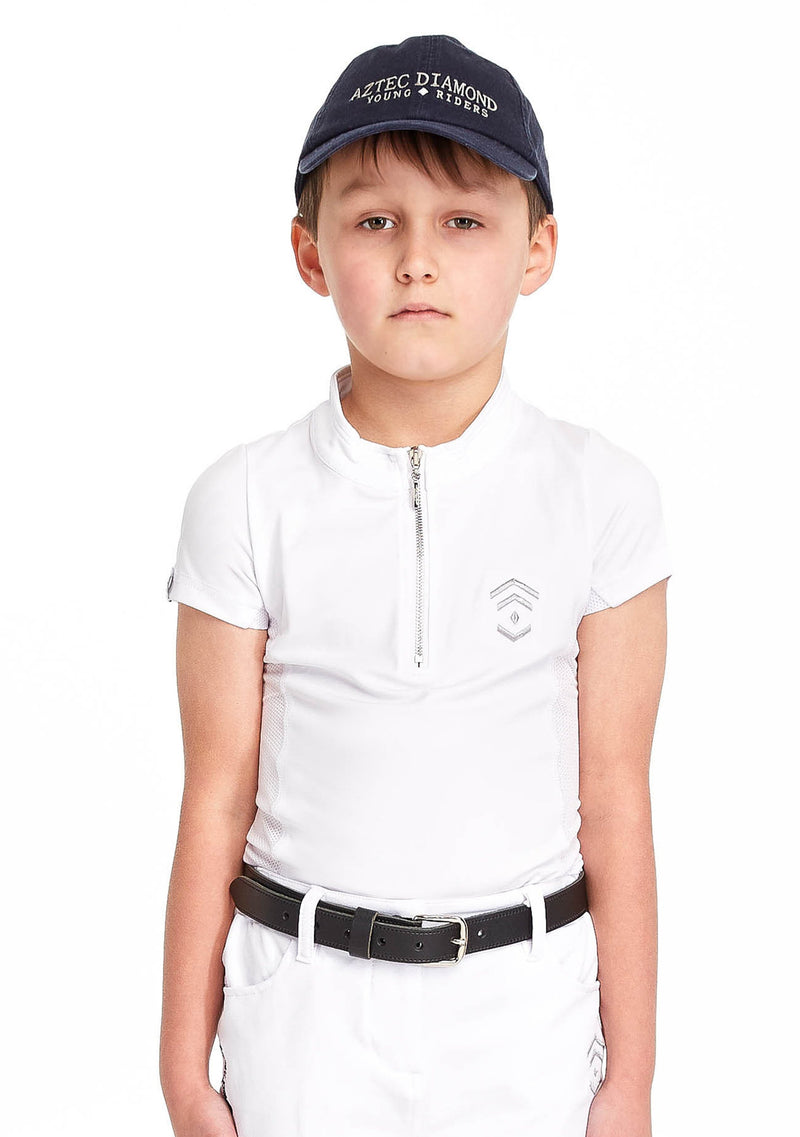 Young Riders White Show Shirt
