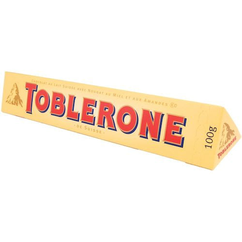 Toblerone Milk Chocolate Bar 100g (12-pack)