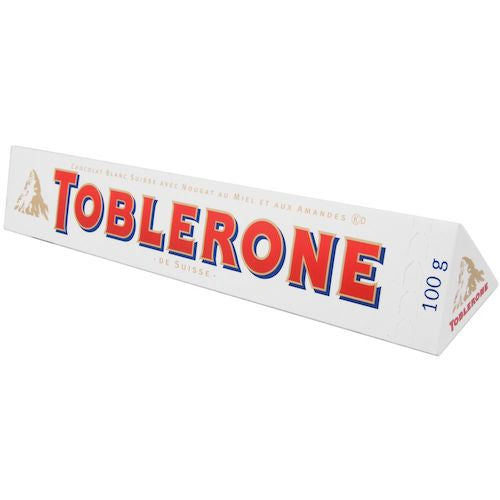 Toblerone Swiss White Chocolate Bar 100g (12-pack)